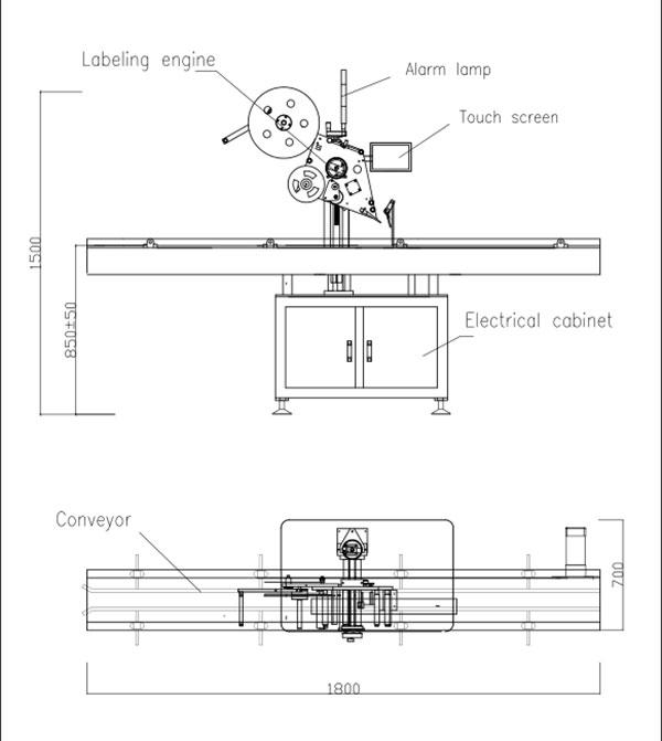 Automatische selbstklebende Flat-Top-Etikettiermaschine