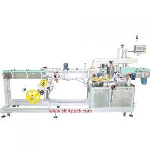 Automatische Etikettiermaschine für Fruchtsaucenbehälter auf der Oberseite