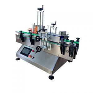Aufkleber-Etikettiermaschine für flache Plastikflasche