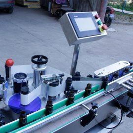 Details der automatischen vertikalen runden Flaschenaufkleber-Beschriftungsmaschine